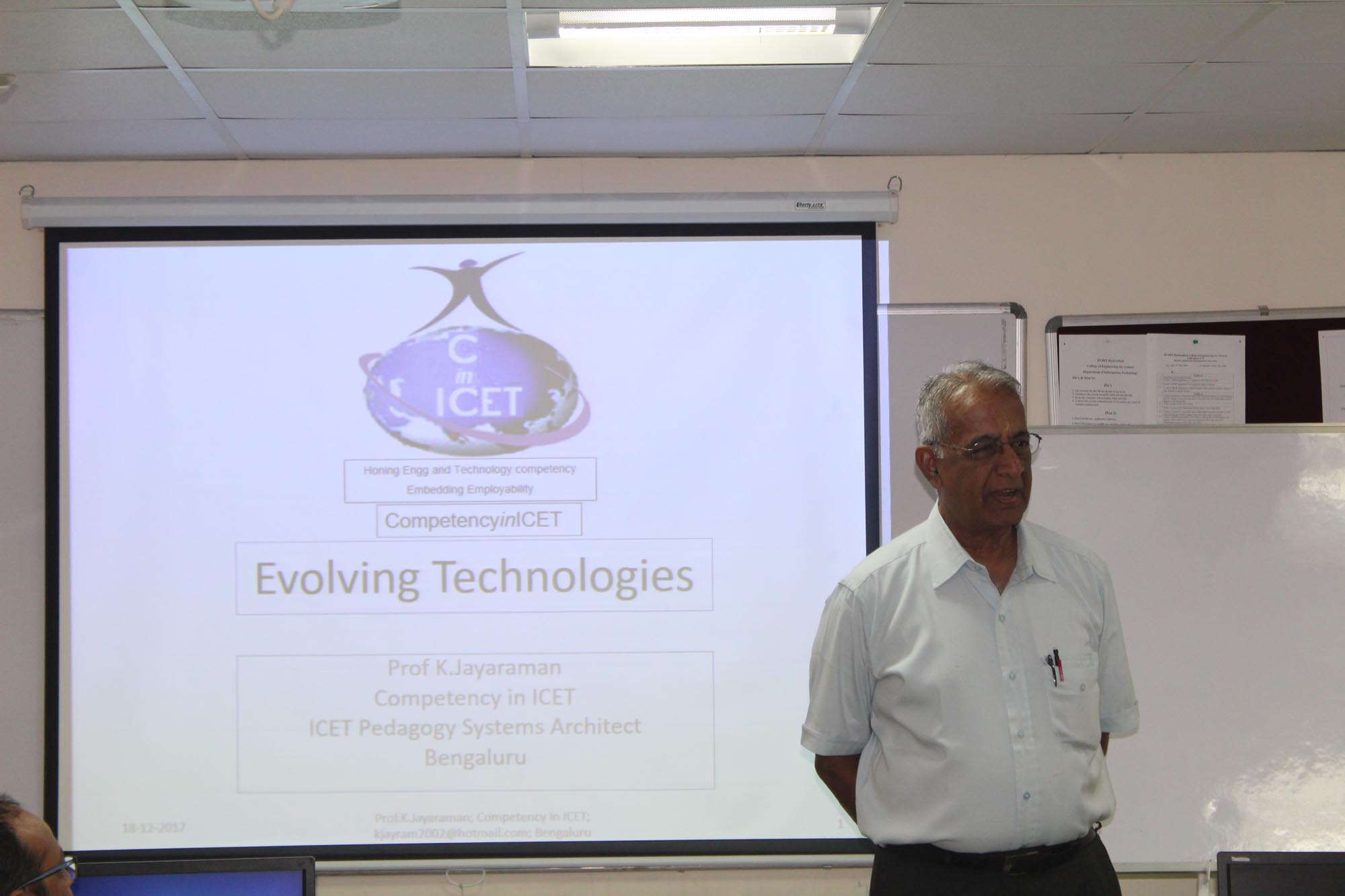 Prof. Jayaram, NI Lab VIEW Banglore