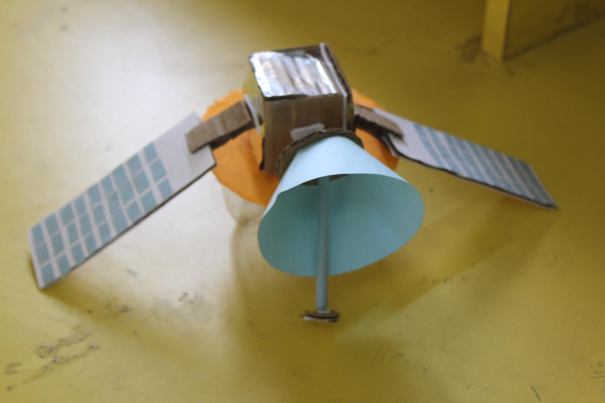 Satellite making from trash
