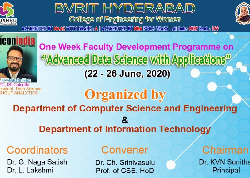 FDP on Advanced Data Scince & Applications